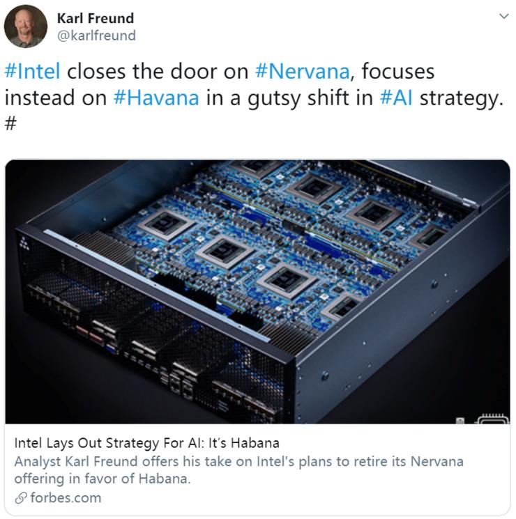 3.5亿美元的收买失利?英特尔将中止NNP-T开发,专心于Habana Labs