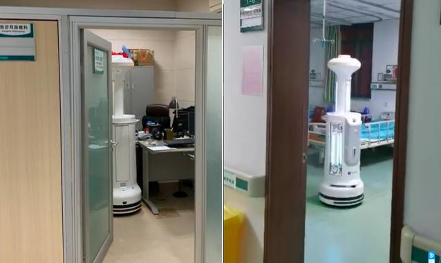 一线 | 疫情防控大战中,隔离区里的机器人们
