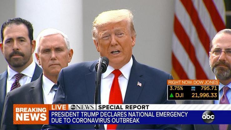 特朗普宣布美国进入国家紧急状态!