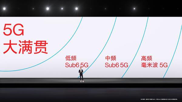 一加手机是国产手机中唯一同时支持5G低频、中频、高频的手机厂商!
