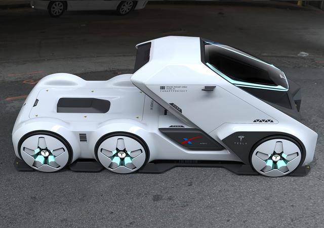 特斯拉SpaceTruck最新设计效果图曝光!